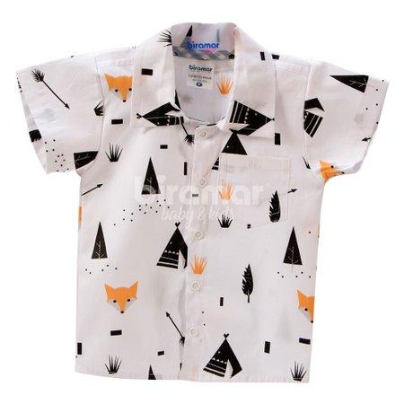 Camisa para Bebê e Kids RN Fox Preto