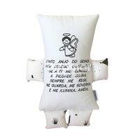 Almofada para Bebê Soninho Oração Anjo da Guarda Bracinho Fox Preto