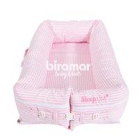 Bercinho Portátil Ninho para Bebê Sleep UM Listrado Rosa