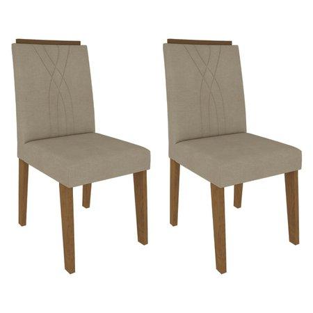 Sala Jantar Adele 130 Cm x 80 Com 4 Cadeiras Nicole Madeira/Off White/Savana/Bege - Cimol