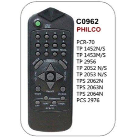 Controle Philco Pcr-70, Tp1452NS, Tp1453NS, Tp2956, Tp2052NS, Tp2053NS, Tps2062N, Tps20, C0962