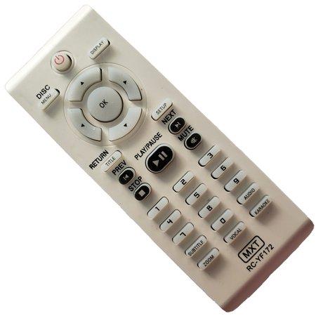 Controle Dvd Philips Karaokê Rc-Yf172, Dvp-3040 C0772