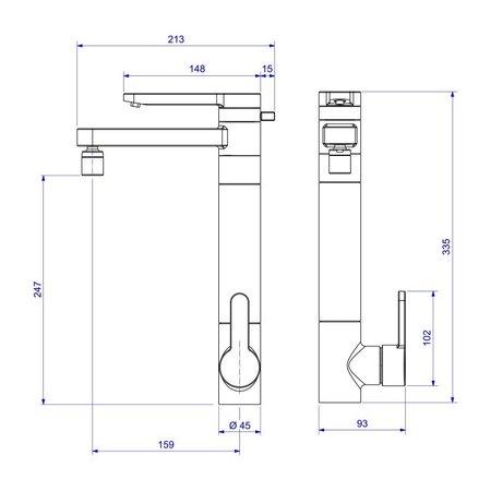 Torneira Misturador Monocomando Deca Twin 2240 C com Filtro de Bancada Cromada