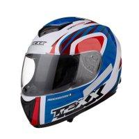 Capacete Motociclista Texx Like Viseira 2mm Toro Rosso Azul com Vermelho
