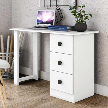 Mesa Para Computador 3 Gavetas Tradicional Msm - Móvel Bento