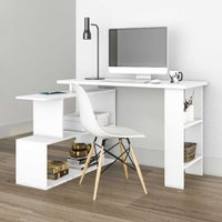 Mesa Para Computador 4 Nichos Design Msm434 Branco - Móvel Bento
