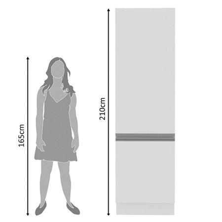 Paneleiro Madesa Acordes Glamy 100% MDF 60 cm 2 Portas