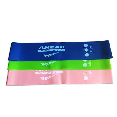 KIT Mini Band 3 Faixas Elásticas Ahead Sports Coloridas