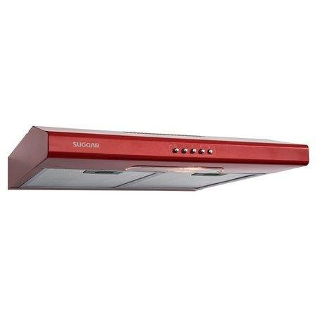 Depurador de Ar Suggar Slim 60 cm Vermelho