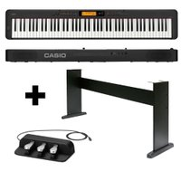 KIT Piano Digital Casio CDP-S350 BK + Móvel + Pedal Triplo