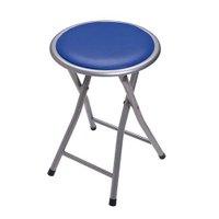 Banqueta Dobrável Circular Comfort - Azul