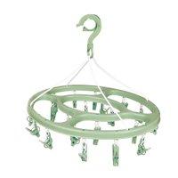 Mini-varal Oval 24 Prendedores - Verde