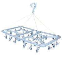 Mini-varal Retangular Dobrável 32 Prendedores - Azul