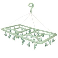 Mini-varal Retangular Dobrável 32 Prendedores - Verde