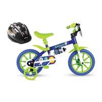 Bicicleta Aro 12 Infantil Space Nathor com Capacete Preto