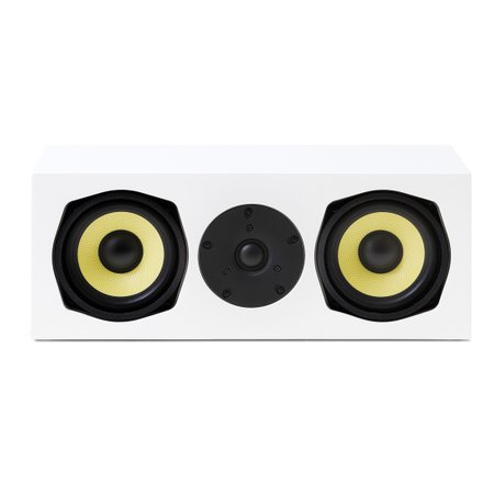 AAT C-140 - Caixa acústica central para Home Theater Branco