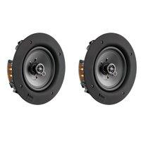 2E R-65S - Par de Caixas acústicas de embutir Ultra-Slim Tela Quadrada 30W RMS Branco