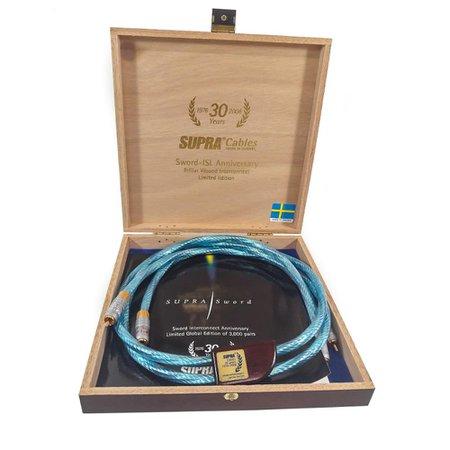 Cabo RCA high-end Sword-ISL Supra Cables 1mt (Par) Azul Gelo
