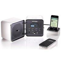 Brionvega Radiocubo.it - Sistema de Áudio / Dock / Rádio FM e Online / Wi-fi / USB Branco