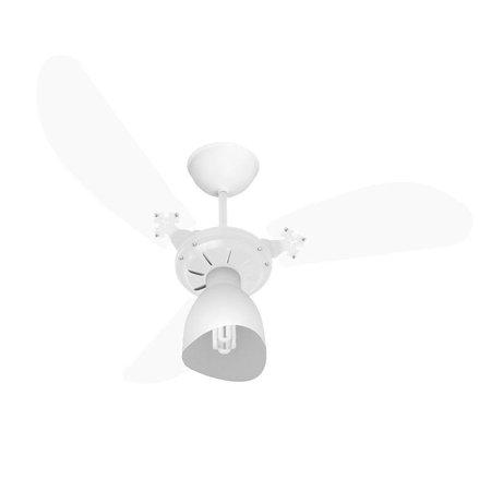 Ventilador de Teto Venti-Delta New Cristal Light com 3 Pás Transparente / Branco