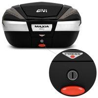Baú Moto Bauleto 56 Litros Givi V56NNT Maxia 4 Bagageiro Universal Preto Fumê Carbono