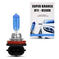Lâmpada Super Branca H11 8500K 55W 12V Efeito Xênon