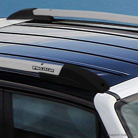 Rack de Teto Longarina Jeep Renegade 2015 A 2019 Prata Alumínio Suporte 45KG Projecar