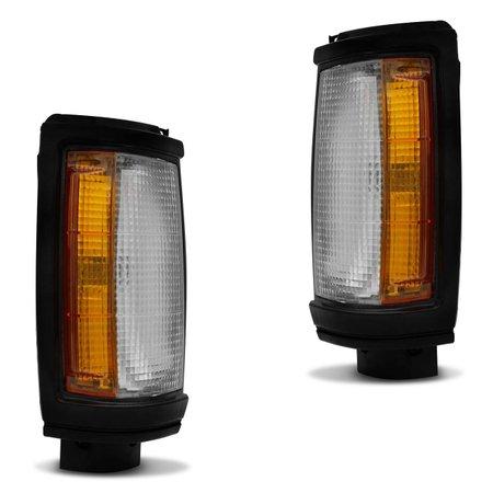 Lanterna Dianteira Pisca L200 92 a 03 Cristal Âmbar Moldura Preta