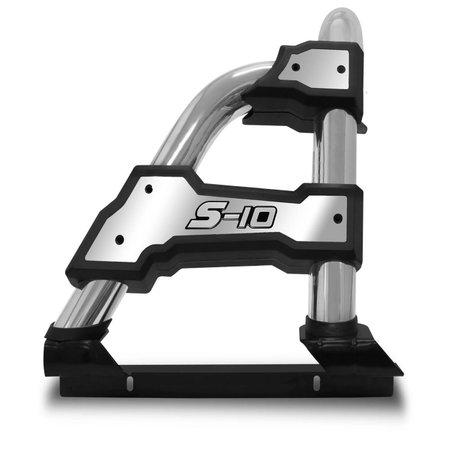 Santo Antônio S10 12 a 19 CD Simples ST-R Track Cromado Com Grade Vigia Cromada