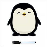 Lousa Magnética para Geladeira com caneta - Pinguim Prana