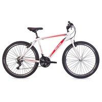 Bicicleta MTB Aro 26 Q18 Alumínio 1.0 21V Shimano Suspensão B-Range Mormaii Branco e Vermelho