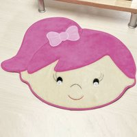 Tapete Infantil Premium Formato Menina Livia Pink 74cm x 64cm