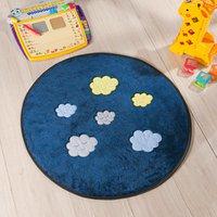 Tapete Infantil Premium Baby Formato Céu Azul Marinho 65 cm