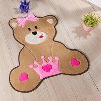 Tapete Infantil Premium Baby Formato Ursa Coroa Rosa 74cm x 66cm