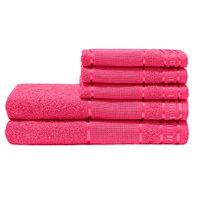 Jogo de Banho Premium Pink 285 g/m² 100% Algodão 05 Peças