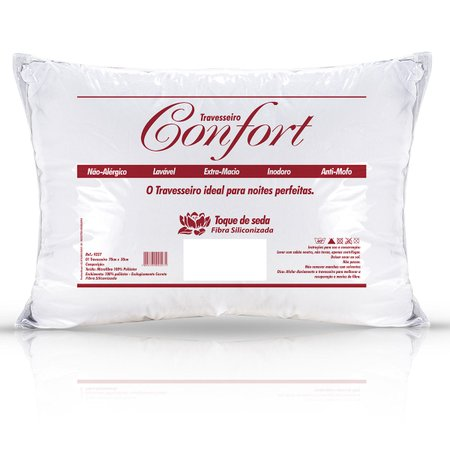 Travesseiro Confort Branco Microfibra