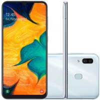Celular Samsung Galaxy A30 Branco -  64GB 6.4