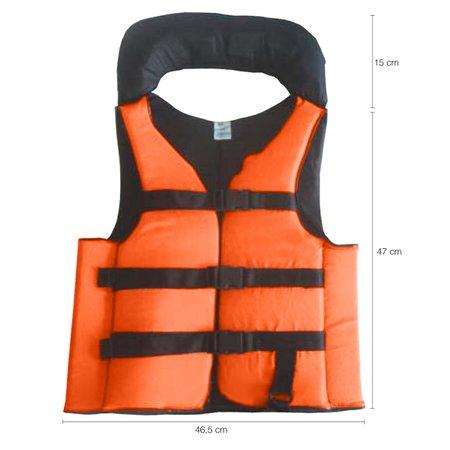 Colete Salva Vidas Auxiliar Flutuação Pesca Advance Laranja 60kg