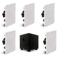 Conjunto de caixas de som para Home Theater AAT Compact HT 5.1 10 + 5 NQ6-M100 + Subwoofer CUBE 10 Preto