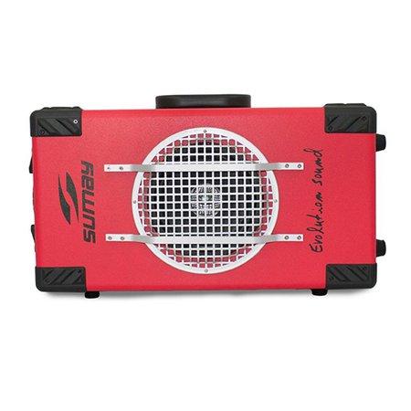Caixa de Som Amplificada Sumay SM-CAP04 60W Bluetooth Vermelho