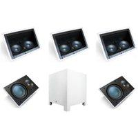 Conjunto de Caixas para Home Theater AAT 5.1 + 1 LCR-A100 + 4 LR-E100 + 1 Subwoofer Rakt Cube 8 Branco
