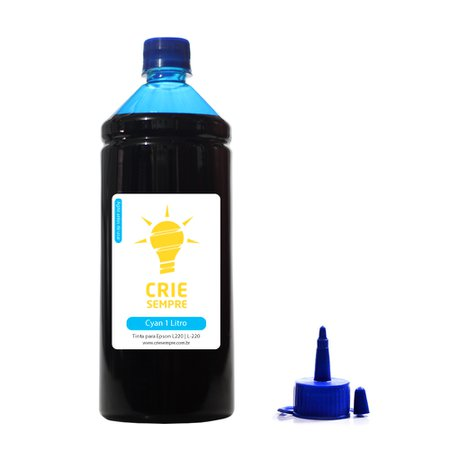 Compatível: Tinta para Epson L220 Premium Crie Sempre Cyan 1 Litro Corante