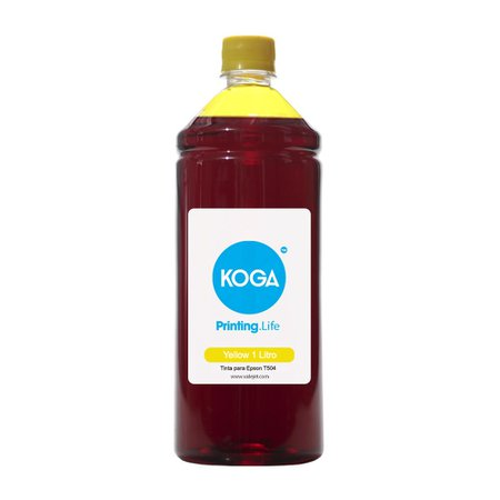 Compatível: Tinta para Epson 504 - T504420 Koga Yellow Corante 1 Litro