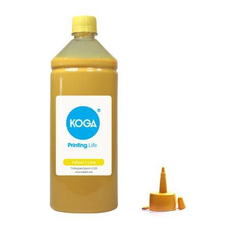 Compatível: Tinta Sublimática para Epson L120 EcoTank Yellow 1 Litro Koga
