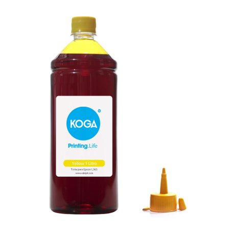 Compatível: Tinta para Epson L365 Bulk Ink Yellow 1 Litro Corante Koga
