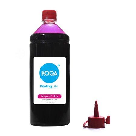 Compatível: Tinta para Epson L380 Bulk Ink Magenta 1 Litro Corante Koga