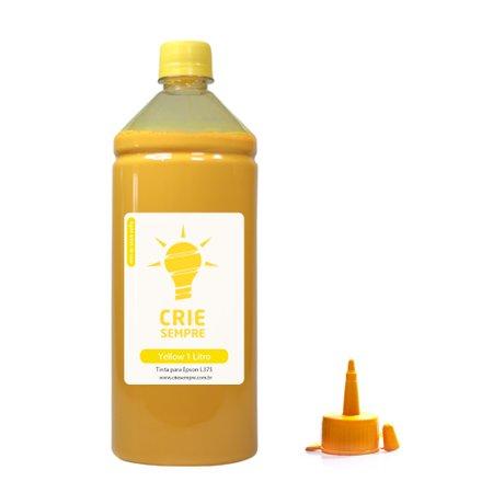 Compatível: Tinta para Epson L375 Yellow Pigmentada Crie Sempre PREMIUM 1 Litro