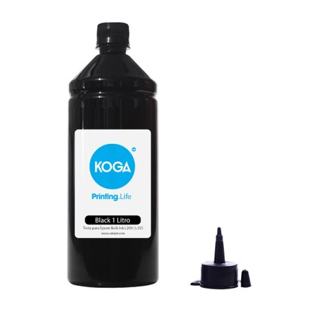 Compatível: Tinta para Epson Bulk Ink L200 - L355 Sublimática Black 1 Litro Koga