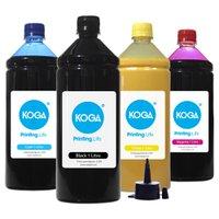 Compatível: Kit 4 Tintas Sublimáticas para Epson L395 Bulk Ink CMYK 1 Litro Koga
