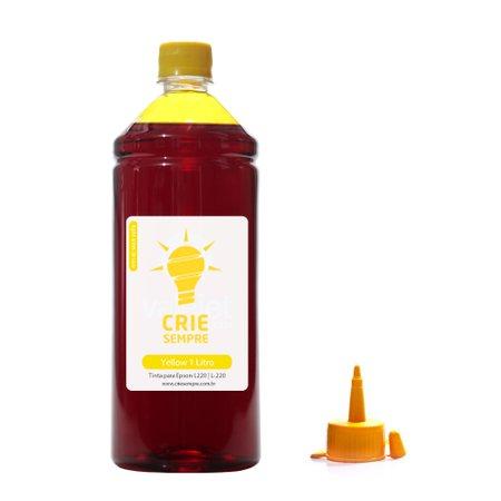 Compatível: Tinta para Epson L220 Premium Crie Sempre Yellow 1 Litro Corante